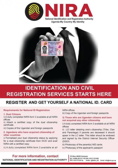 UGANDANS IN THE DIASPORA CAN REGISTER FOR NATIONAL ID CARDS